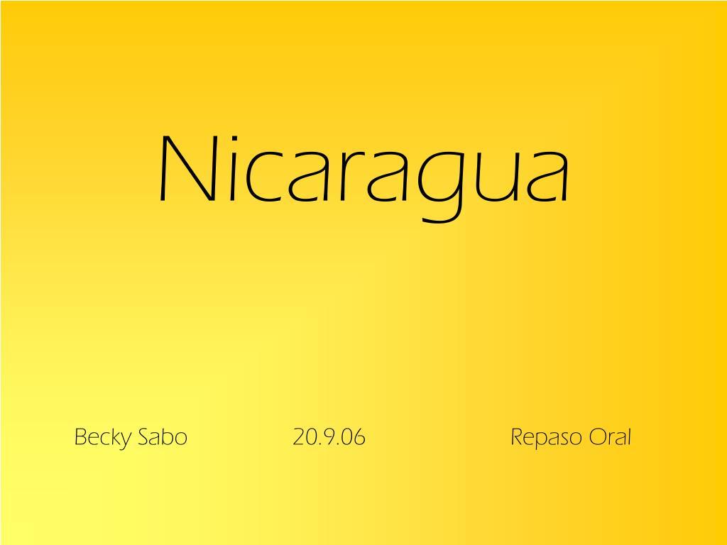 nicaragua l.