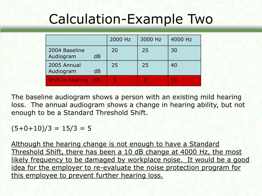 Calculation-Example Two