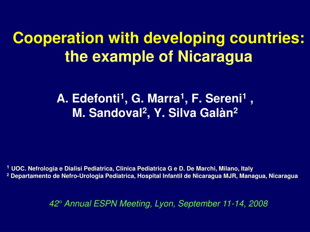 cooperation with developing countries the example of nicaragua l.