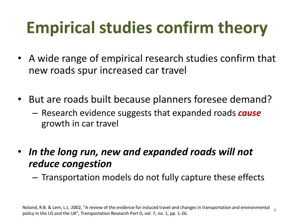 Empirical studies confirm theory