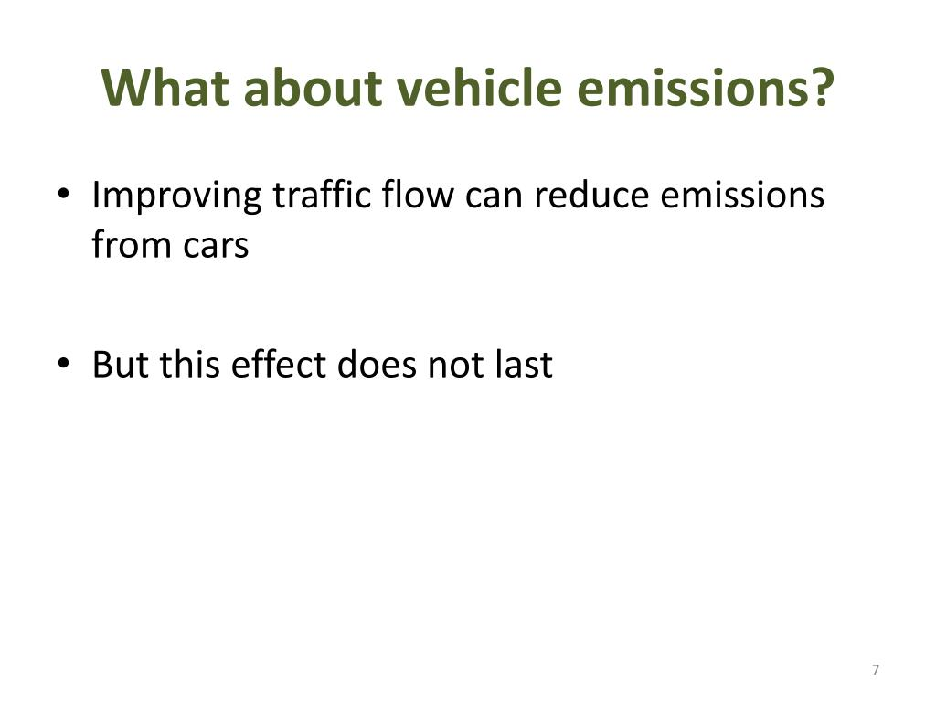 What about vehicle emissions?
