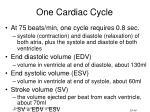 one cardiac cycle