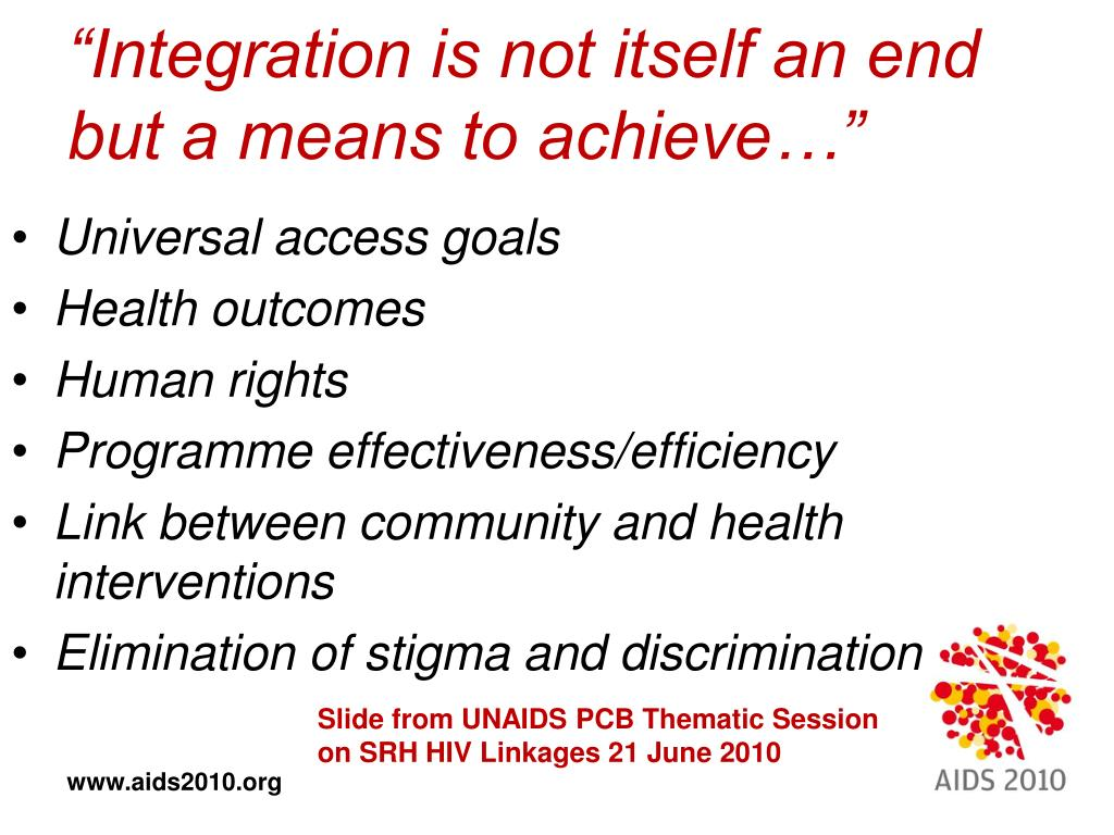 """""""Integration is not itself an end but a means to achieve…"""""""