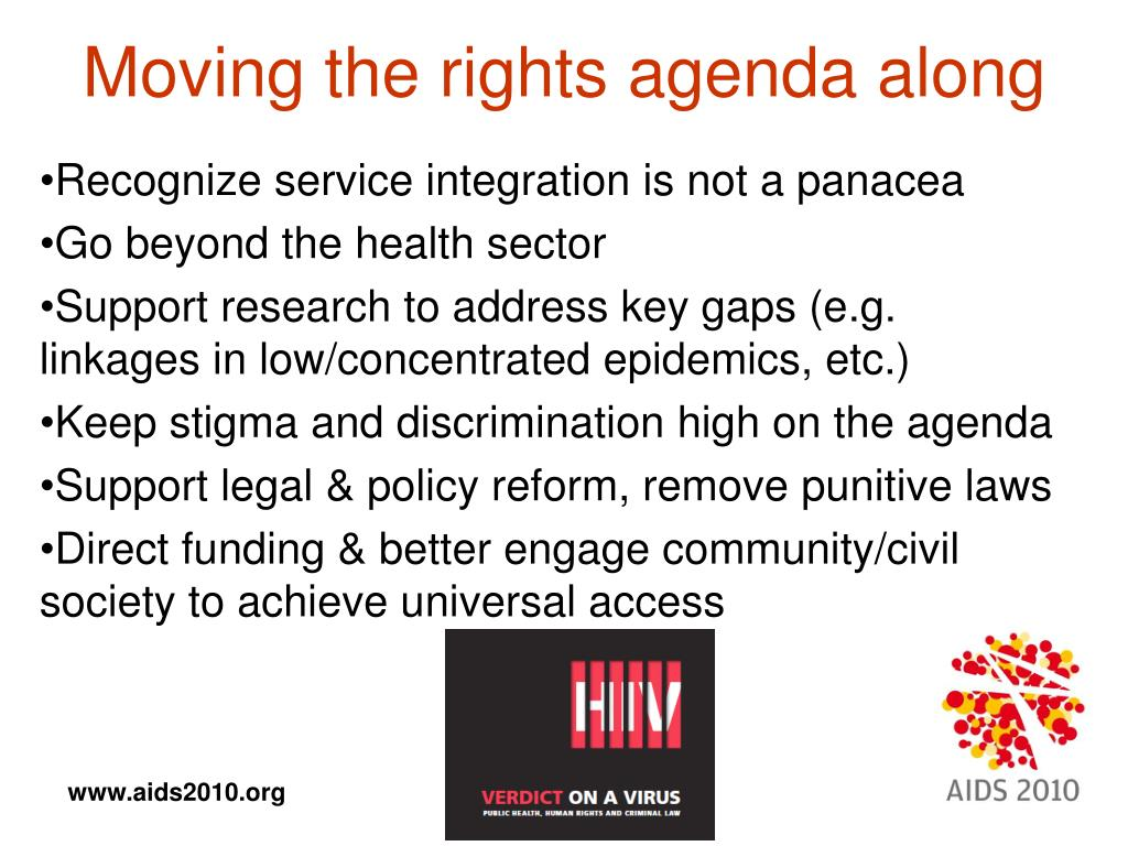 Moving the rights agenda along