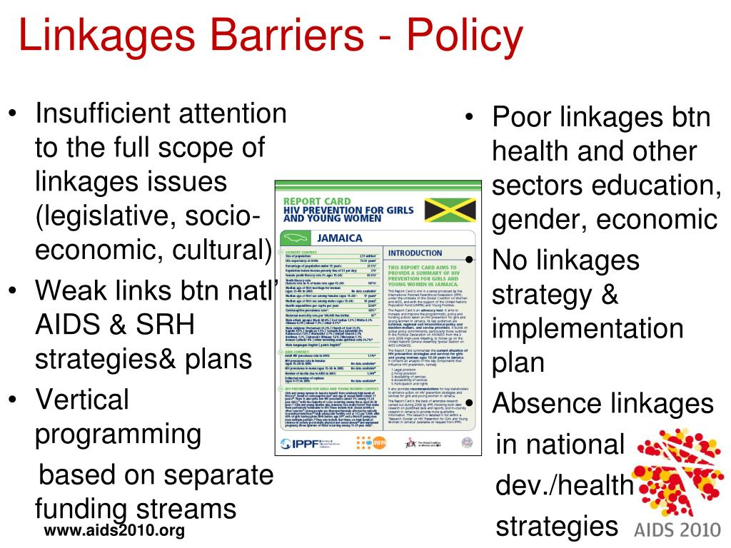 Linkages Barriers - Policy