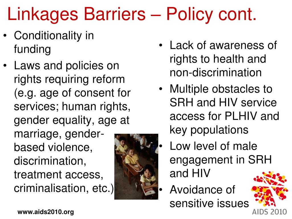 Linkages Barriers – Policy cont.