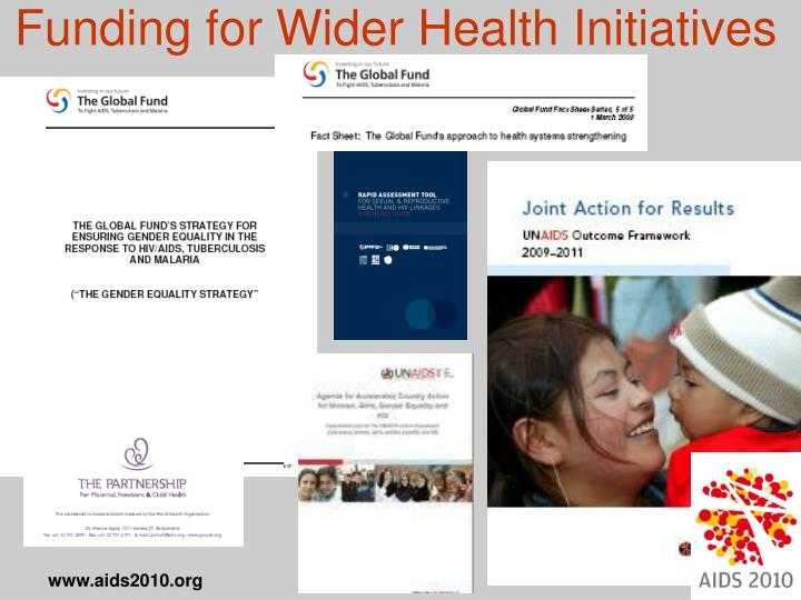 Funding for Wider Health Initiatives