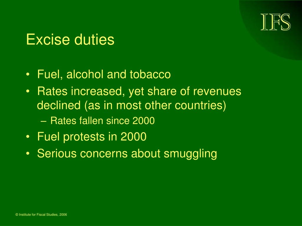 Excise duties