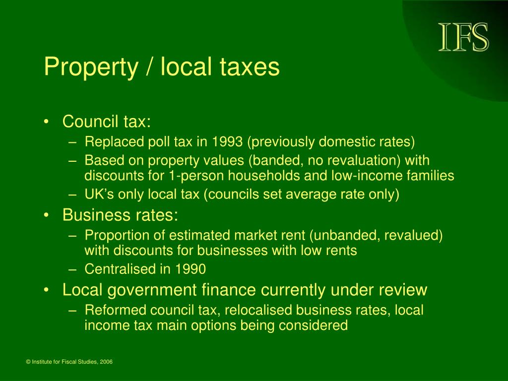 Property / local taxes