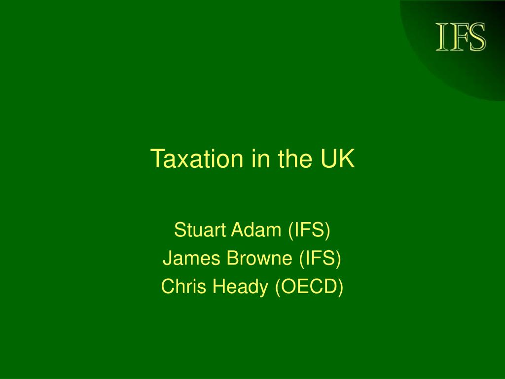 Taxation in the UK