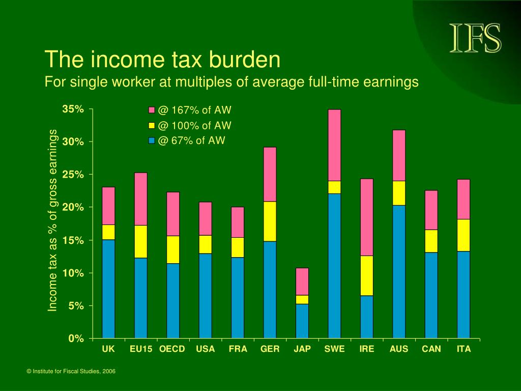The income tax burden