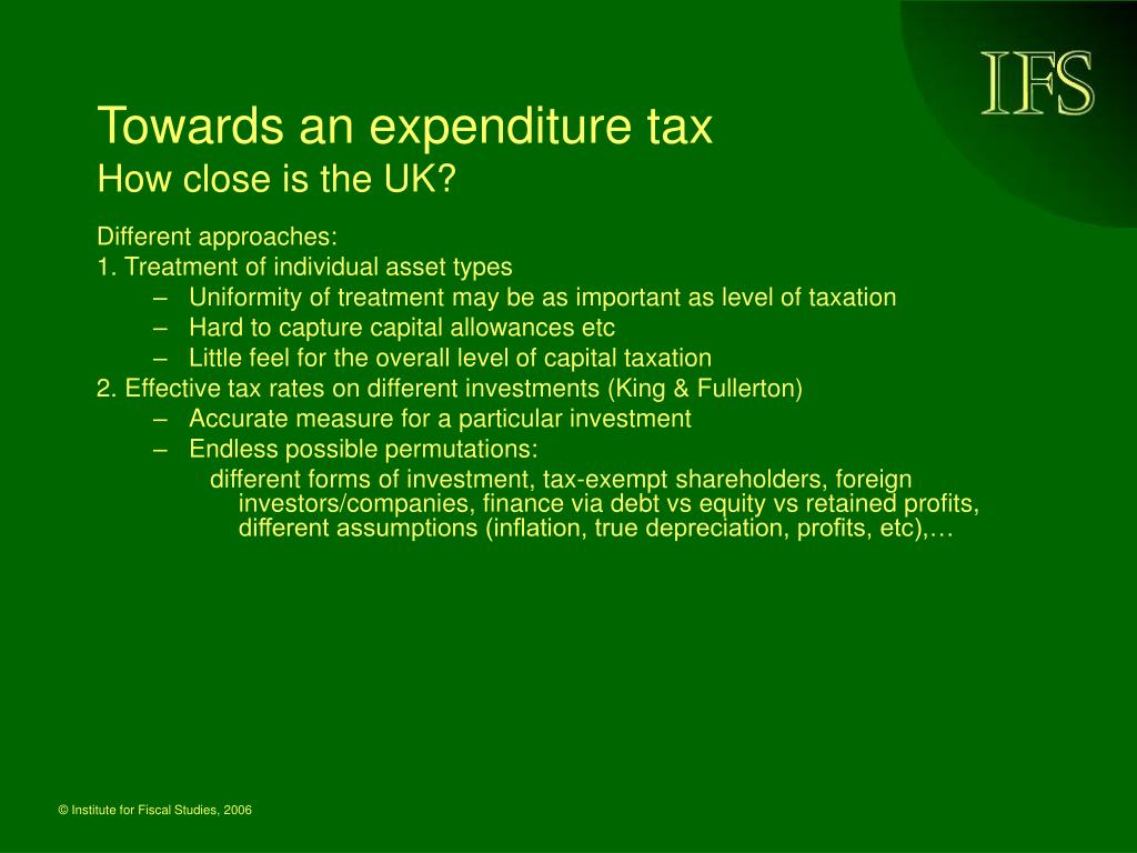 Towards an expenditure tax
