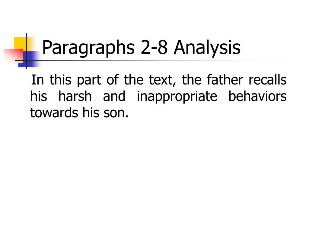 Paragraphs 2-8 Analysis