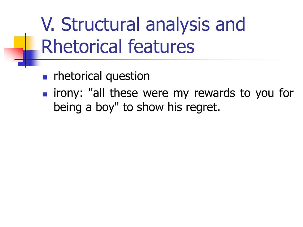 V. Structural analysis and Rhetorical features