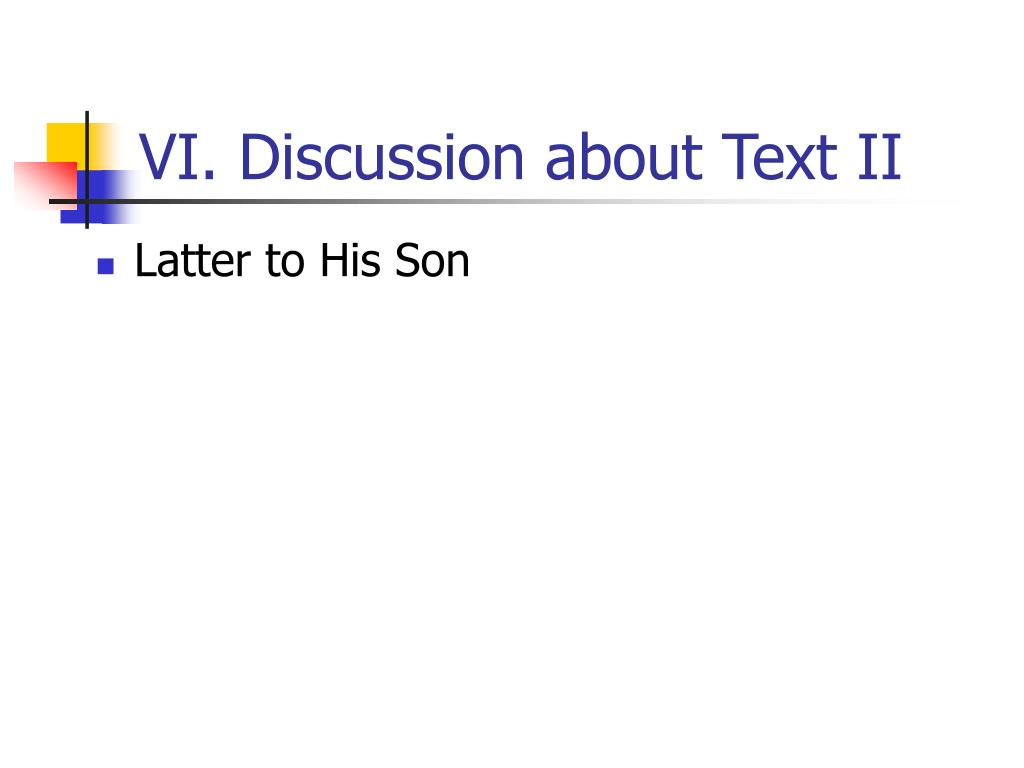 VI. Discussion about Text II