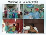 missions to ecuador 2006