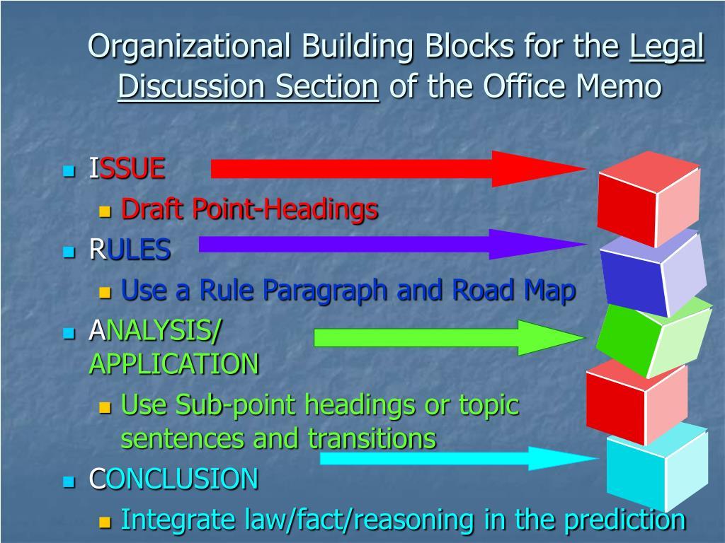 Organizational Building Blocks for the