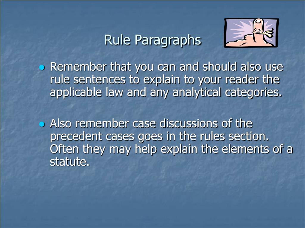 Rule Paragraphs