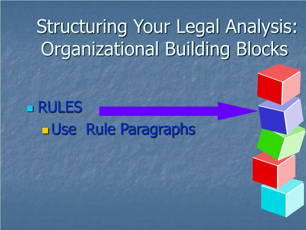 Structuring Your Legal Analysis: Organizational Building Blocks