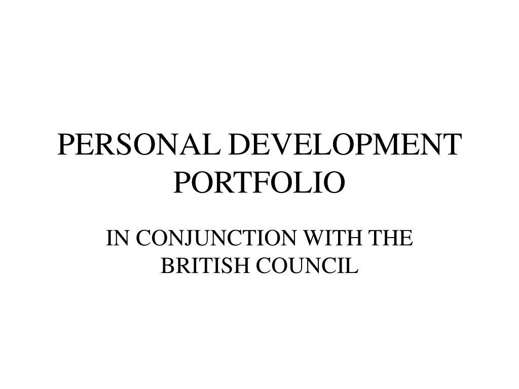 personal development portfolio l.