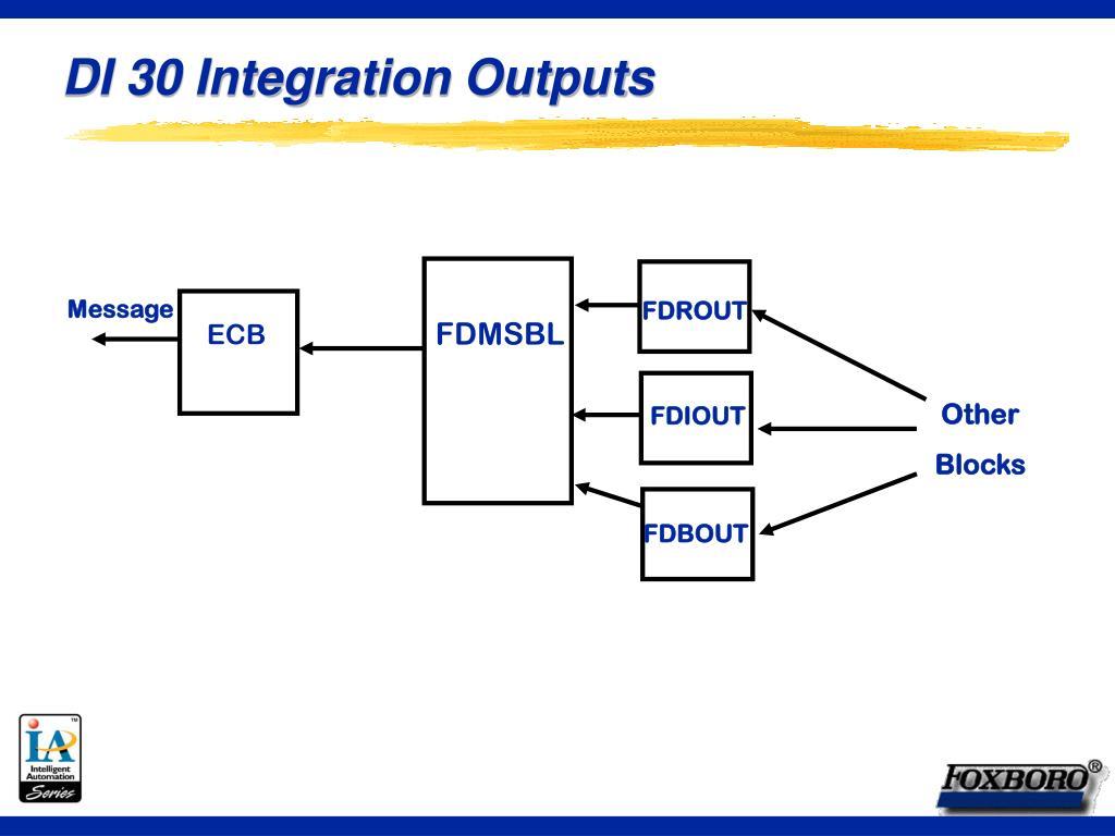 DI 30 Integration Outputs