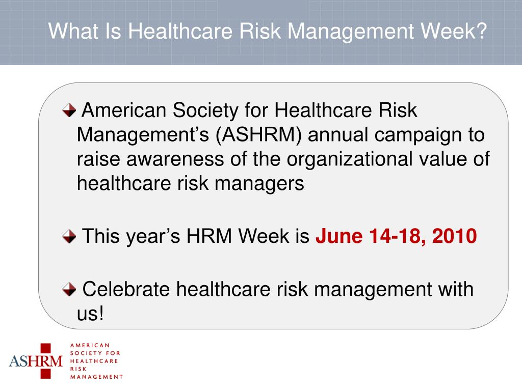 What Is Healthcare Risk Management Week?