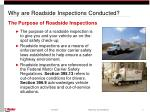 why are roadside inspections conducted