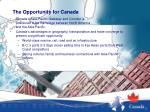 the opportunity for canada