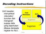 decoding instructions