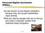 personal digital assistants pdas