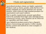 chains and segmentation