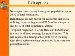 exit options31