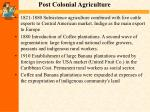 post colonial agriculture
