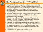 the neoliberal model 1990s 2000s6