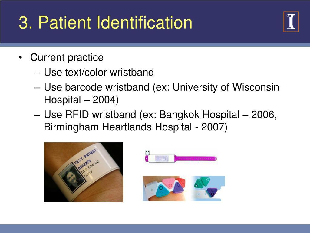 3. Patient Identification