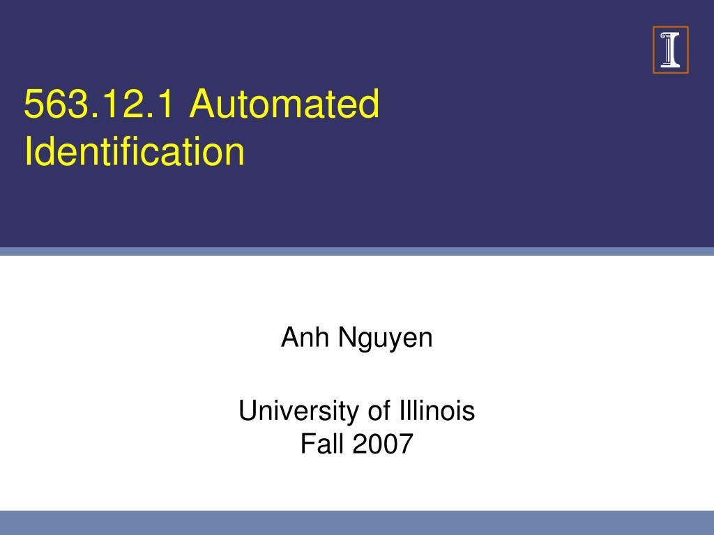 563.12.1 Automated Identification