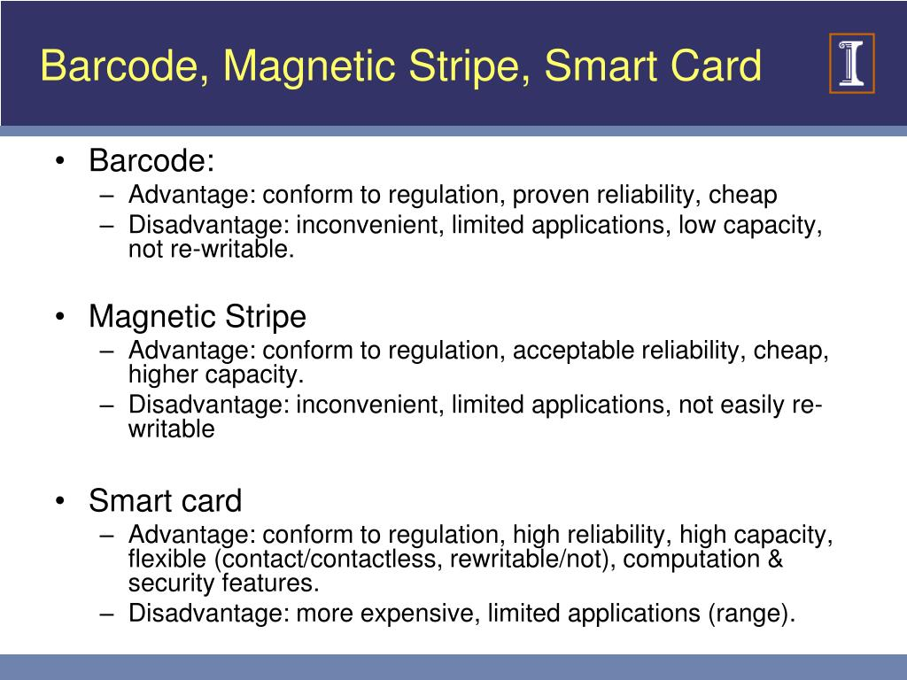 Barcode, Magnetic Stripe, Smart Card