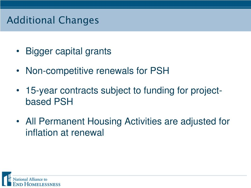 Bigger capital grants