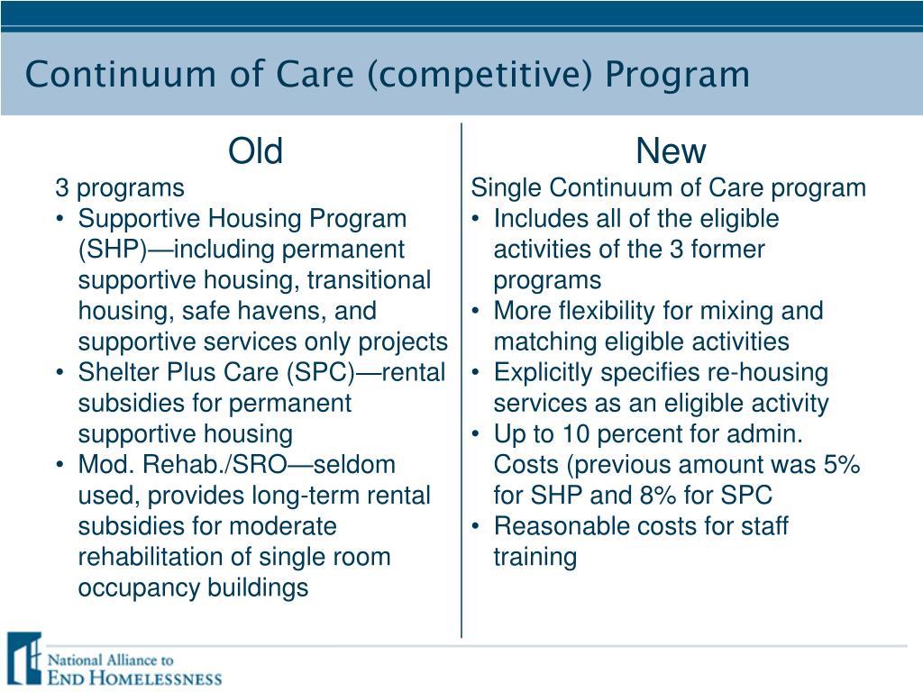 Continuum of Care (competitive) Program