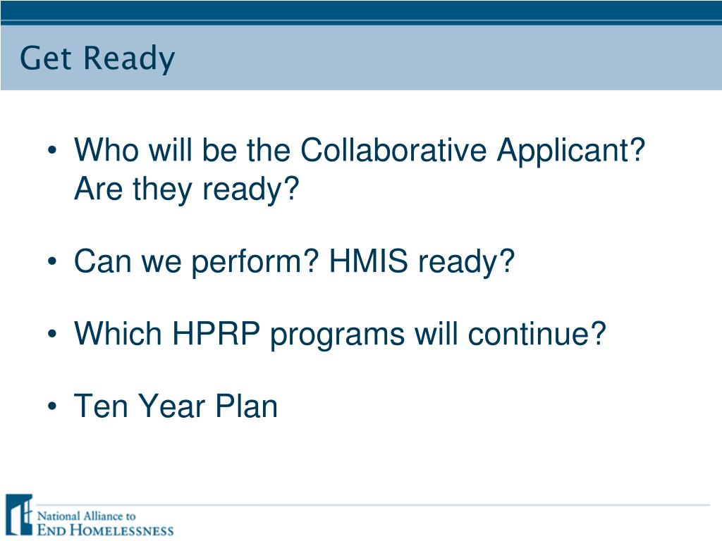 Who will be the Collaborative Applicant? Are they ready?