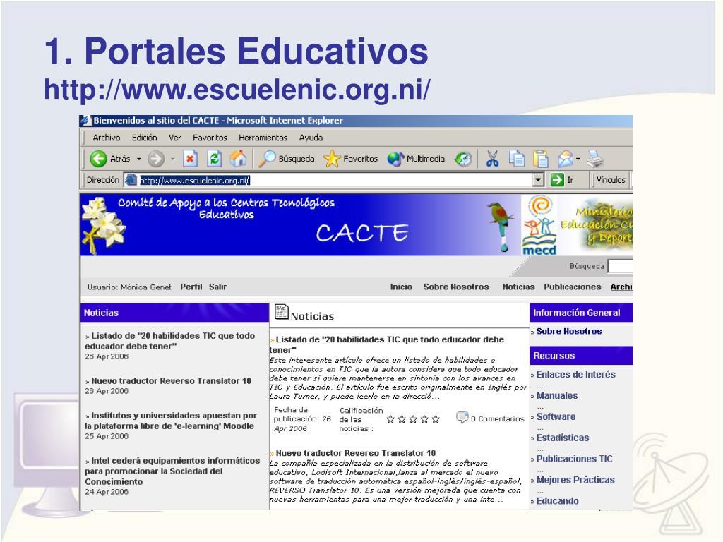1. Portales Educativos