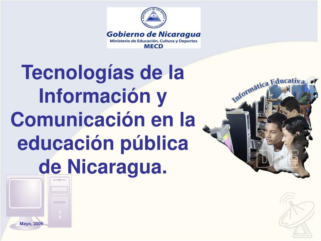 tecnolog as de la informaci n y comunicaci n en la educaci n p blica de nicaragua l.