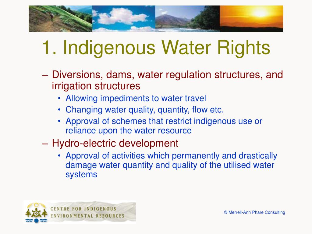 1. Indigenous Water Rights