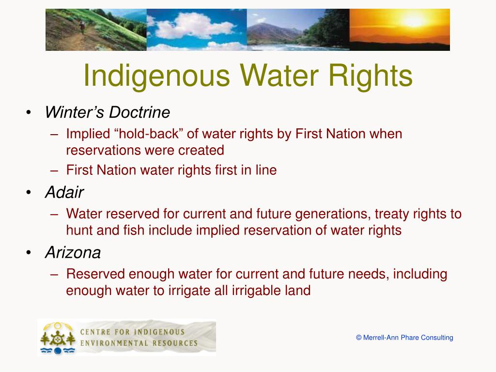Indigenous Water Rights