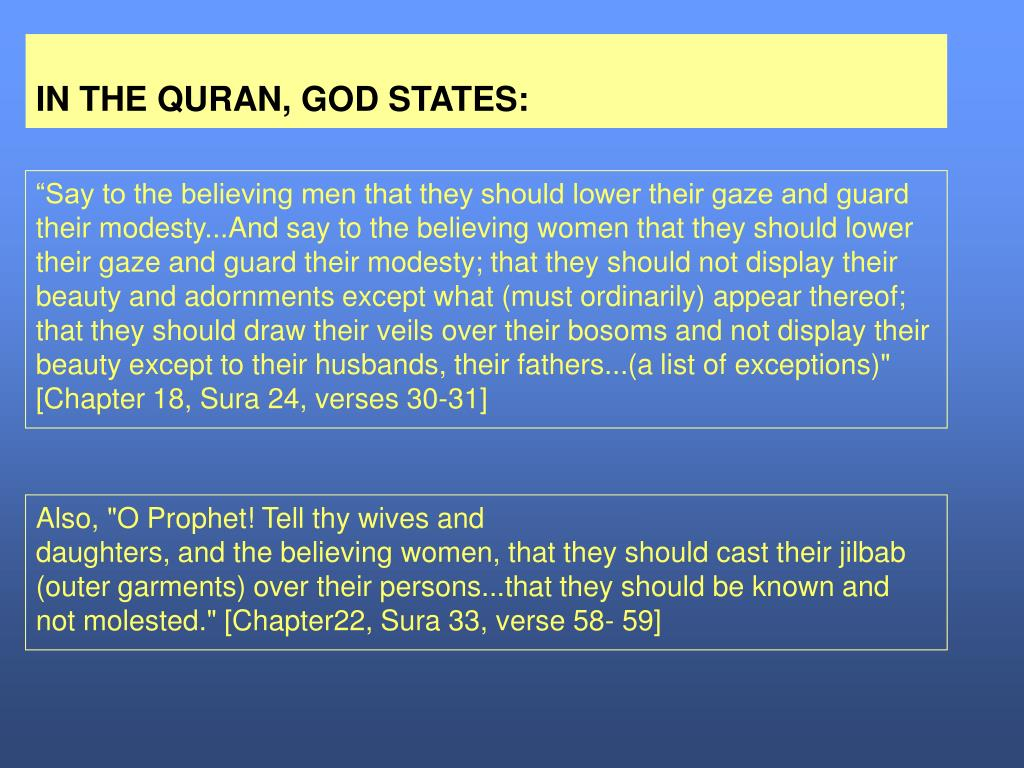IN THE QURAN, GOD STATES: