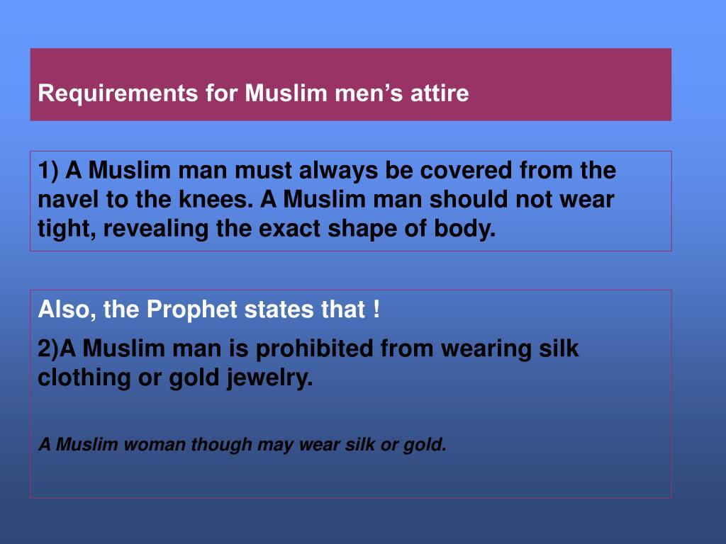 Requirements for Muslim men's attire