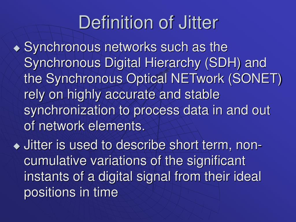 Definition of Jitter
