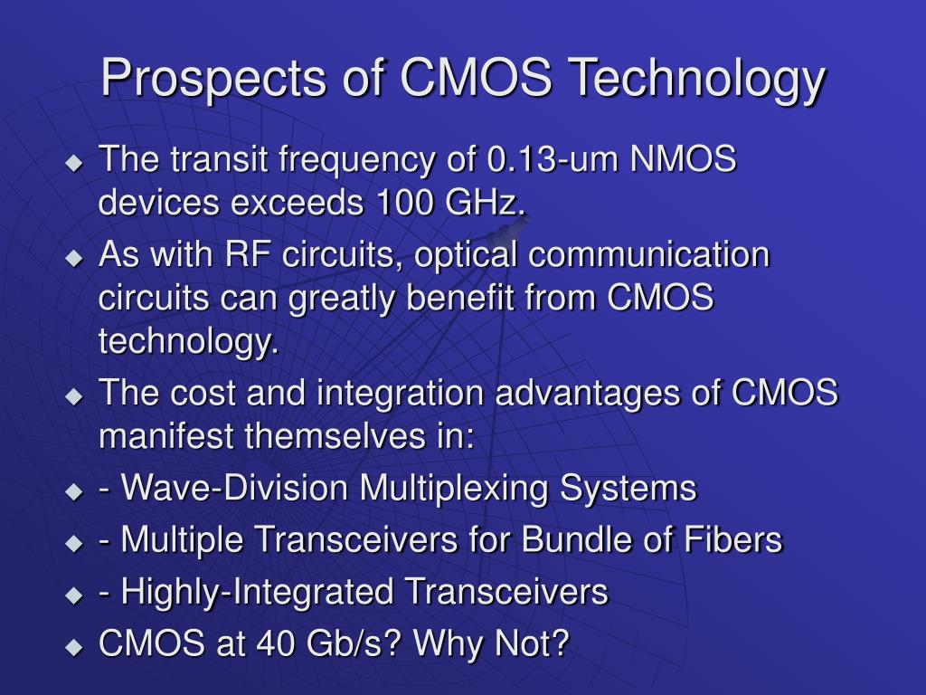 Prospects of CMOS Technology