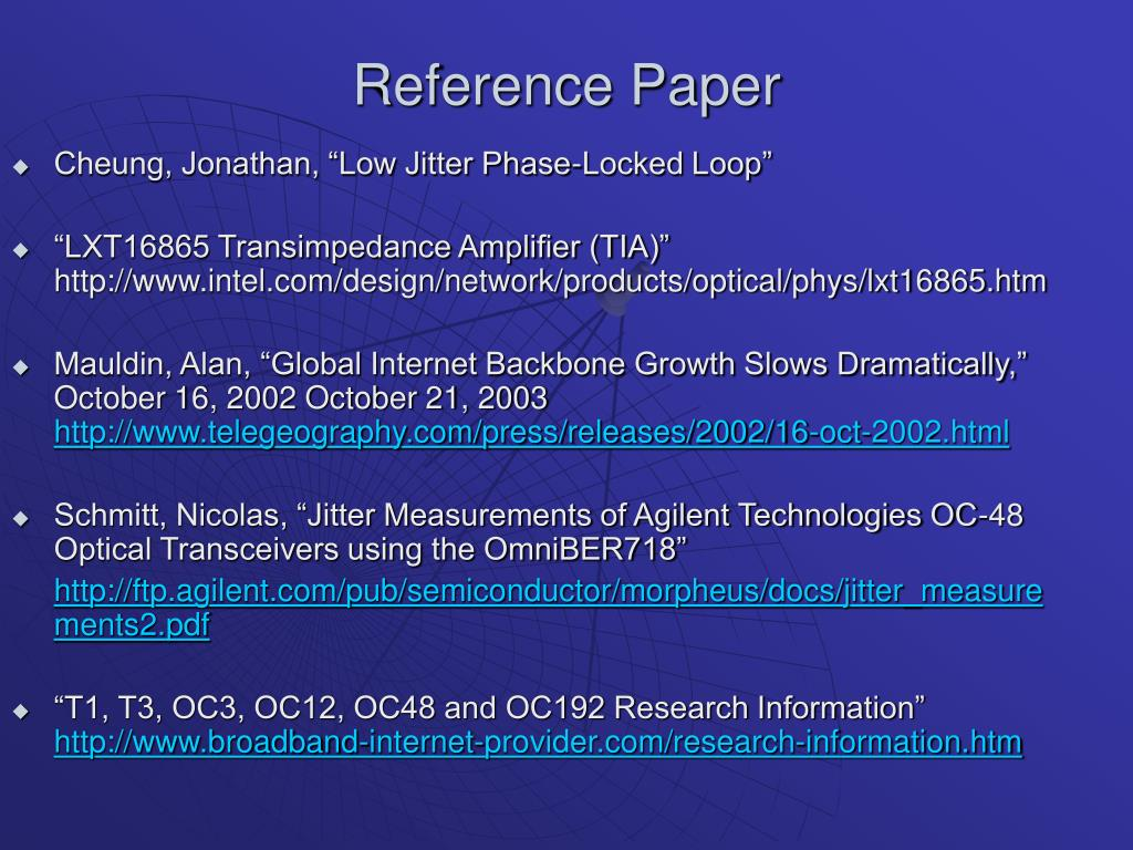 Reference Paper