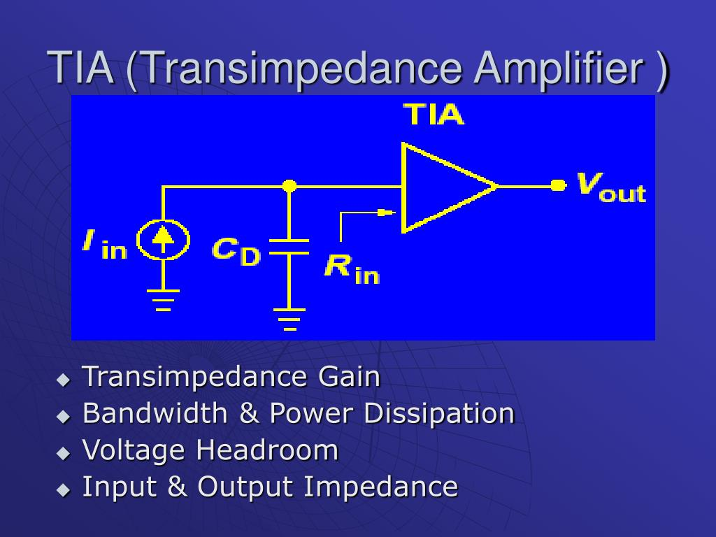 TIA (Transimpedance Amplifier )
